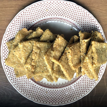Chickpea crackers - recipes from YOAS