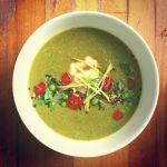 Ginger Broccoli Soup - YOAS recipes - Yoga on a Shoestring