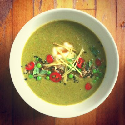 Ginger Broccoli Soup - YOAS recipes - Yoga on a Shoestring