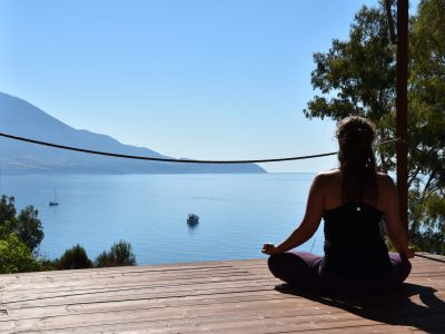Kefalonia yoga holiday - Yoga on a Shoestring - YOAS - yoga